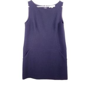 Ann Taylor Loft Black Sleeveless Dress Pockets